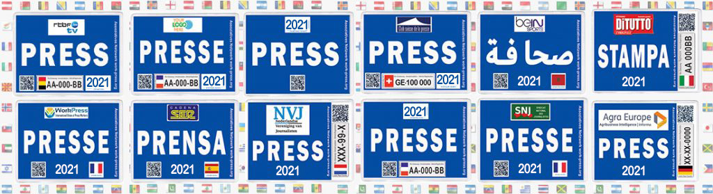 Macaron Presse pour véhicule - Press Stickers for Vehicle