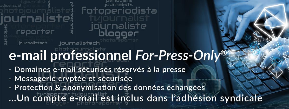 Messagerie e-mail pour journaliste détenteur d'une carte de presse